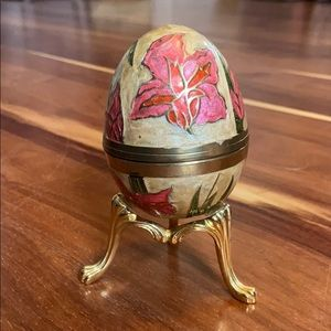 Beautiful Brass Egg with stand